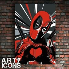 AWESOME DEADPOOL PAINTING RYAN REYNOLDS CABLE X MEN HAND PAINTED + FREE P&P