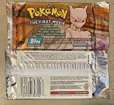 1998 Pokemon - The First Movie - First Edition - One (1) Unopened Pack.