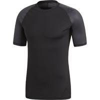 adidas Alphaskin Sport Graphic Tee New Men's Black Dark Grey 2019 T-Shirt CF7243
