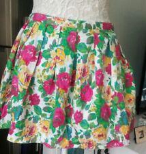 Topshop floral flared mini skirt 10