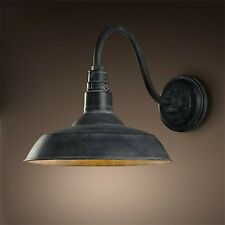 Retro Industrial Gooseneck Barn Wall Sconce Lamp Fixture Vintage Wall Light