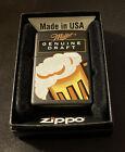 Zippo Lighter Miller Genuine Draft Design