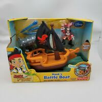 Fisher-Price Disney's Jake and The Never Land Pirates Hook's Battle Boat NIB NIP