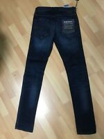 NWD Mens Diesel TEPPHAR Stretch Denim 069AH DARK BLUE Slim W27-28 L32 H6 RRP£150