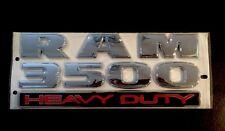 "RAM 3500 HEAVY DUTY EMBLEM Badge Nameplate OEM, SIZE: 12""X5"""