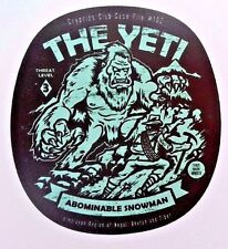 "Yeti Abominable Snow Man  Cryptic Zoology Sticker New  3"" x 3"""