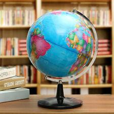 32cm Metal Rotating Earth Globe World Map Swivel Stand Geography Educational