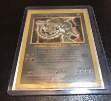 Pokemon Card Holo Shining Steelix 112/105 LP Neo Destiny  3 Star Super Rare.