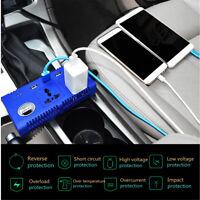 200W Modi Sine Wave Car Power Inverter Dual USB Ports Adapter DC 12V to AC 220V