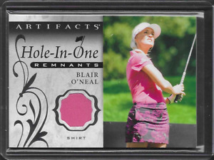 2021 UD Artifacts Blair O'Neal Hole In One Remnants Worn Shirt Relic Card LPGA