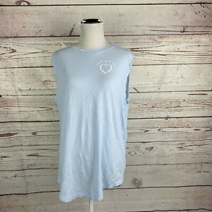 Lululemon Lead With The Heart Brunswick Muscle Tank Top 10 Breezy Blue Athletic