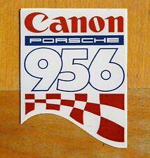 Canon porsche 956 le mans world sportscar rétro course/motorsport sticker decal