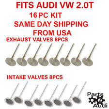 Engine Intake Valves , Exhaust Valves 16pc Kit Fits Audi VW 2.0T (FSI, TSI)