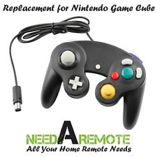 Black Game Pad Cube Controller Remote For Nintendo Wii GameCube Brand New 3Z