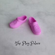 Barbie Garden Shoes Pink Clogs Ponytail Logo Fs691