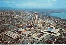 1962 Seattle Worlds Fair Expo Aerial View Oversize Postcard Enco Humble Oil C-1