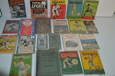 21 VINTAGE BASEBALL BOOKS COLLECTION!!! MUST SEE!!!