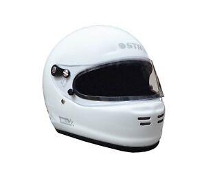FIA Approved Helmet STR 'SR-1' Race Lid ideal Oval/Rally, SA2015 White - XS 53cm