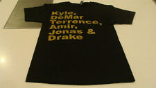 Raptors T Shirt 2014 Black M SS T Shirt Players Names Starting Line Up Drake