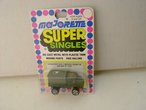 MAJORETTE SUPER SINGLES 1:82 SCALE MERCEDES-BENZ MILITARY ARMY TRUCK NEW ON CARD
