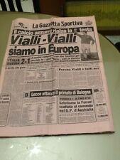 La Gazzetta dello Sport / 18 nov 1987 / Italia qualificazioni Europei