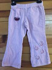 Naartjie Pink Corduroy Leaf Pants Girls Cords Size 3