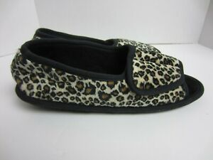 Daniel Green Womens Tara II Cheetah Print Open Toe Slip On Slippers Sz 10M NEW