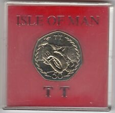 More details for 1982 50p coin iom isle of man tt mick grant aa fifty pence in capsule iom240