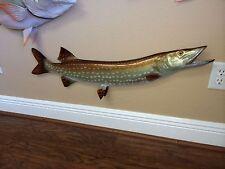 "36"" Northern Pike Half Mount Fish Replica"