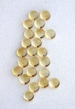 SIX 3mm Round Natural Brazilian Citrine Cab Cabochon Gem Stone Gemstone EBS656
