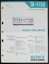 Sony ta-1150 Original Integrated Stereo Amplifier service-manual/Diagram o135