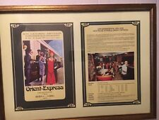"""Framed Bar Salonwagen  Nostalgie Istanbul Orient Express Menu 16 x 22"""""""