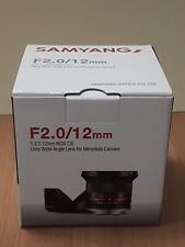 Samyang 12mm F2.0 NCS CS for Fuji-X - Black