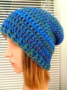 Ladies/Teens Hand Crochet, Chunky Aran, Slouchy Beanie Hat (NEW)