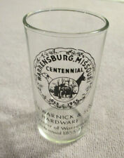 1955 Warrensburg, Missouri Centennial Glass - E. N. Warnick & Sons Hardware