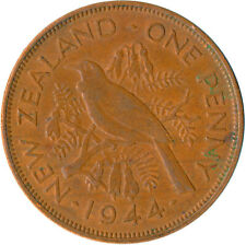COIN / NEW ZEALAND / ONE PENNY KING GEORGE VI. 1944  #WT5494