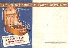 """A6790) FONOVALIGIA """"DURIUM LADY"""" GIRADISCHI CARLO CASO NOCERA INFERIORE."""