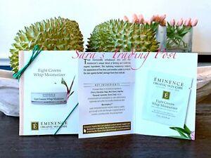 6 Eminence 8 Eight Greens Whip MOISTURIZER Cream Card Samples 3ml/.10oz+Bonus 🎁