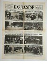 N730 La Une Du Journal Excelsior 29 juin 1920 premier étape tour de France