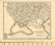c1815 MAP RUSSIA SOUTH PART ~ CHERSON KOURSK KIEV ~ HAND COLOURED