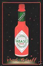 Tabasco Sauce Hot Stuff embossed metal sign (hi 3020)