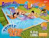NEW Aqua Ride Triple Super Fun Water Slide 6m Long Includes 3 Inflatable Sliders