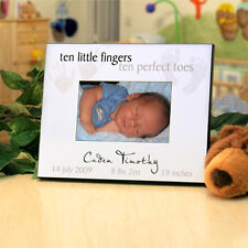 """Personalized Picture Frame for New Baby : """"Ten Little Fingers, Ten Perfect Toes"""""""