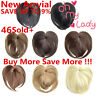 Silky Clip-On Hair Topper Short Straight Hair Wig Full Wigs T7A1