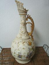 "Antique Art Nouveau Vase AMPHORA TURN-TEPLITZ-BOHEMIA 19"" EWER"
