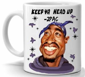 NOVELTY TEA COFFEE 2 PAC MUG - KEEP YA HEAD UP - TEA COFFEE CUP FREE DELIVERY