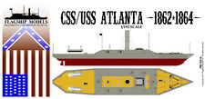 FLAGSHIP MODELS 1/192 Scale USS/CSS Atlanta ironclad ram (13.5 inches long) NEW!