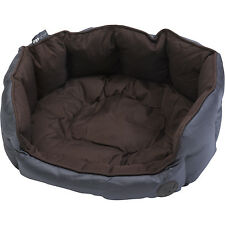 Petface Waterproof Oxford Pet Bed Puppy Dog Luxury Cosy Bedding - Oval Extra