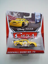 Disney pixar movie cars raro sidewall shine nr.74 mattel piston cup 15/16  1:55
