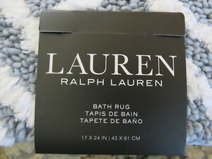 RALPH LAUREN Bath Rug Anti Slip Steel Blue Bath Mat 17x24 or 27x44 inches